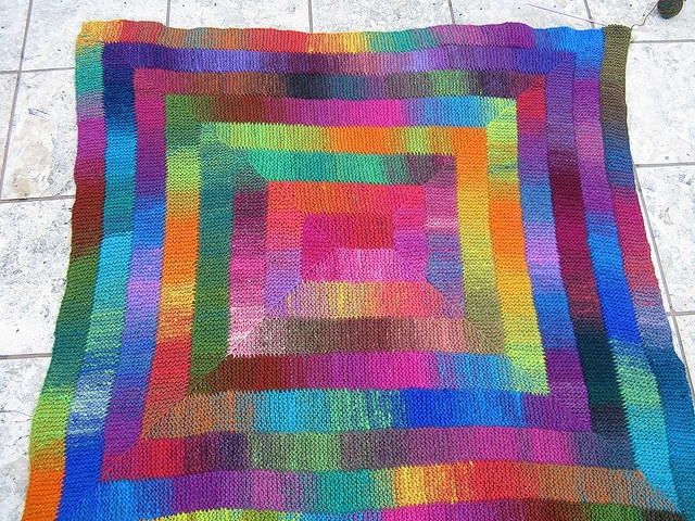 Knitting Pattern Rainbow Blanket : 1000+ images about Rainbow Knit Blankets on Pinterest ...