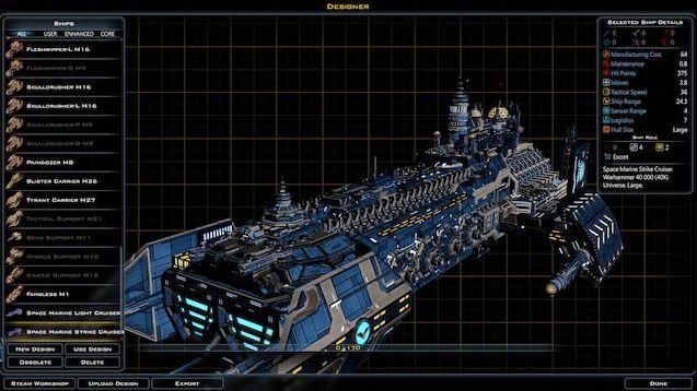 Steam Workshop Space Marine Strike Cruiser Space Marine