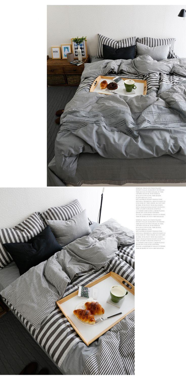 Menu0027s Line Fashion Bedding Set Cozy Bed Clothes