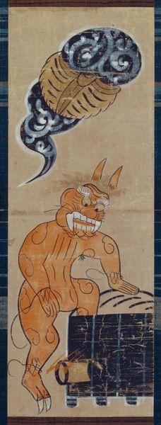 大津絵 鬼の行水 〈おおつえ おにのぎょうずい〉<br>軸装 紙本着色 江戸時代〔日本〕17世紀後半~18世紀前半 <br>63.0 x…