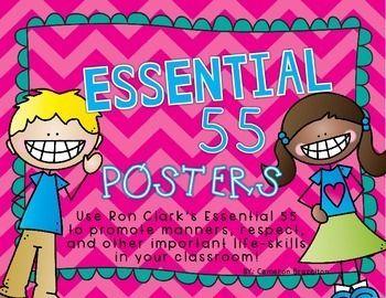 Teach important life skills using Ron Clark's Essential 55!