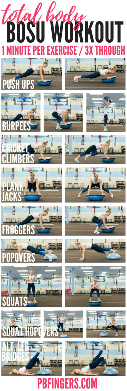 Total Body BOSU Workout | Peanut Butter Fingers | Bloglovin'                                                                                                                                                                                 More