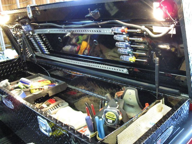 Lights in the truck box awesome trucks toys trailers and westy - Truck bed storage ideas ...
