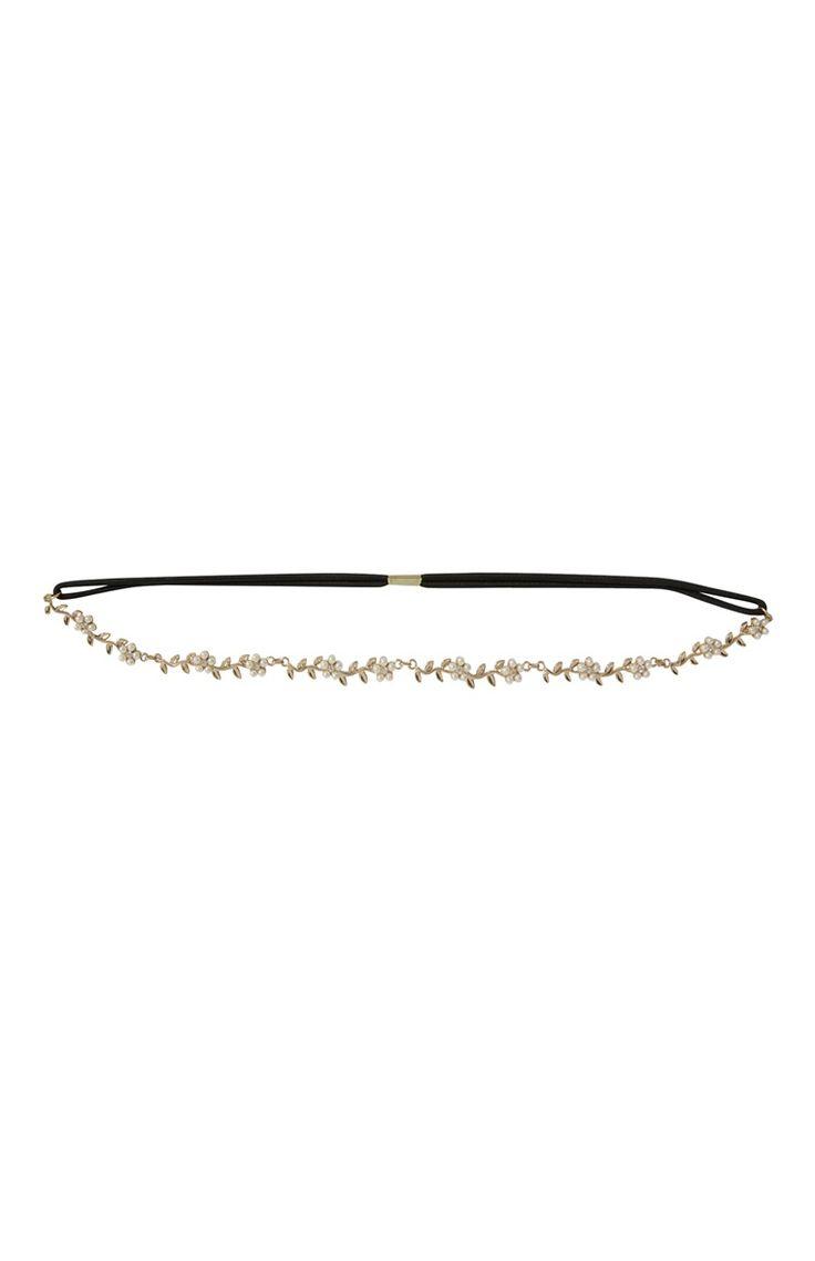Primark - Haarband mit Metallblumen