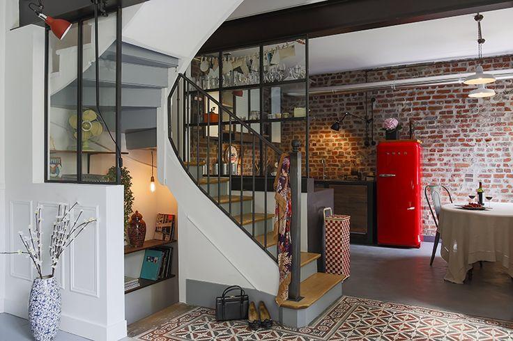 Verrières indus et meuble de cuisine en acier. Conception et fabrication Les Ateliers du 4
