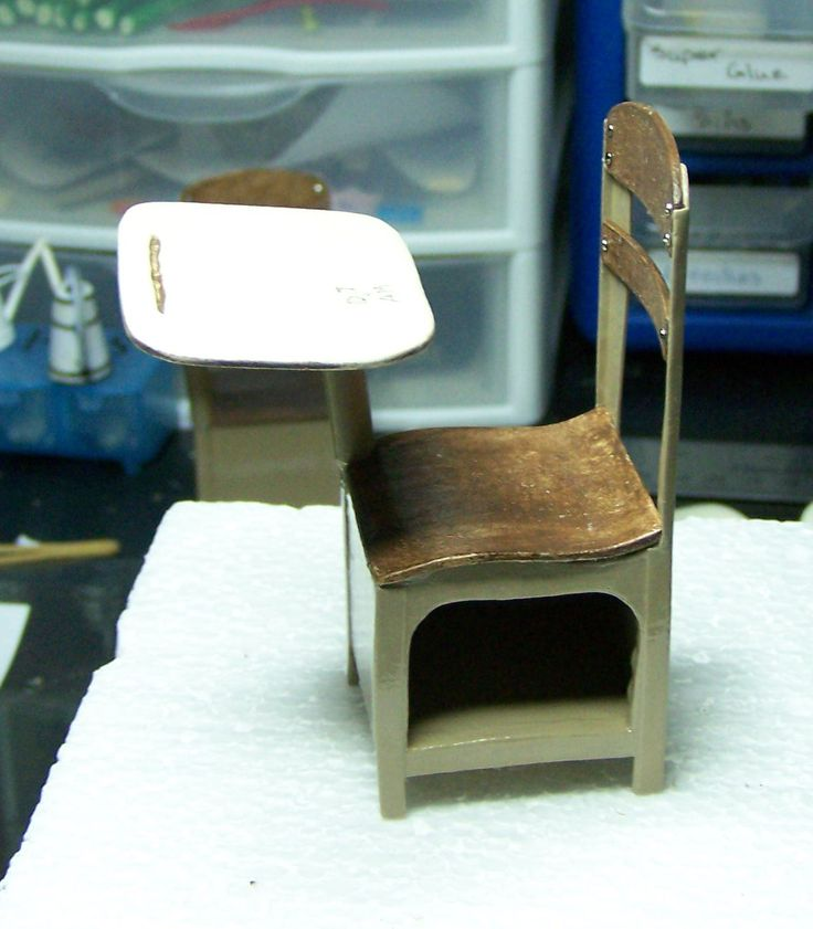 How To: Old Fashioned School Desk. Dollhouse ...