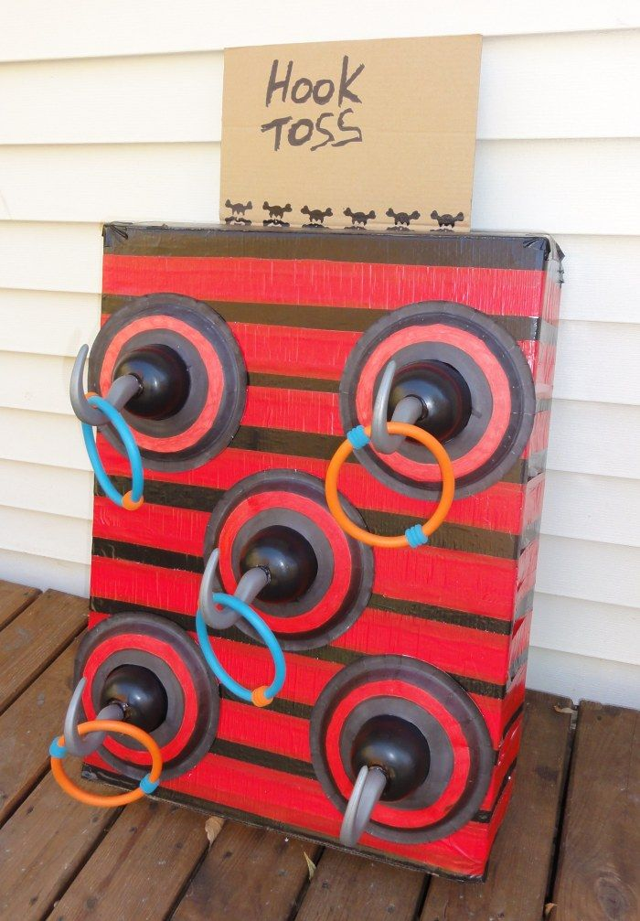 Pirate Party Game: Hook Toss. Parents need this for the annual party