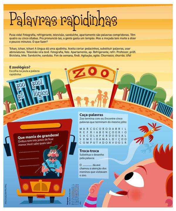 Portuguese tips for kids by Thiago Fagundes, via Behance