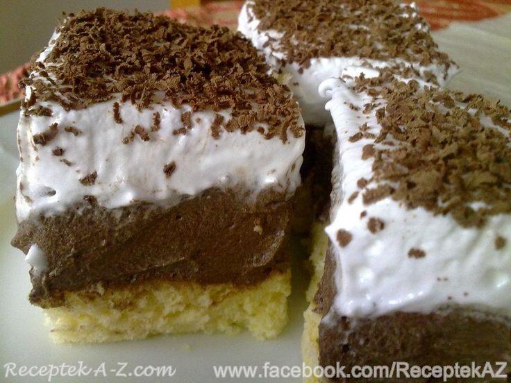 Piškótový koláč s kakaovým krémom