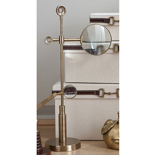 ModernDomicile - Telescope Magnifying Glass-Brass by Global Views, $97.50 (https://www.moderndomicile.com/telescope-magnifying-glass-brass-by-global-views/)