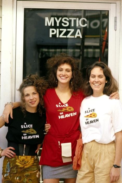 Been there and it the Pizza is a Slice of Heaven...Lili Taylor, Julia Roberts and Annabeth Gish from Mystic Pizza (1988) Mystic, Connecticut