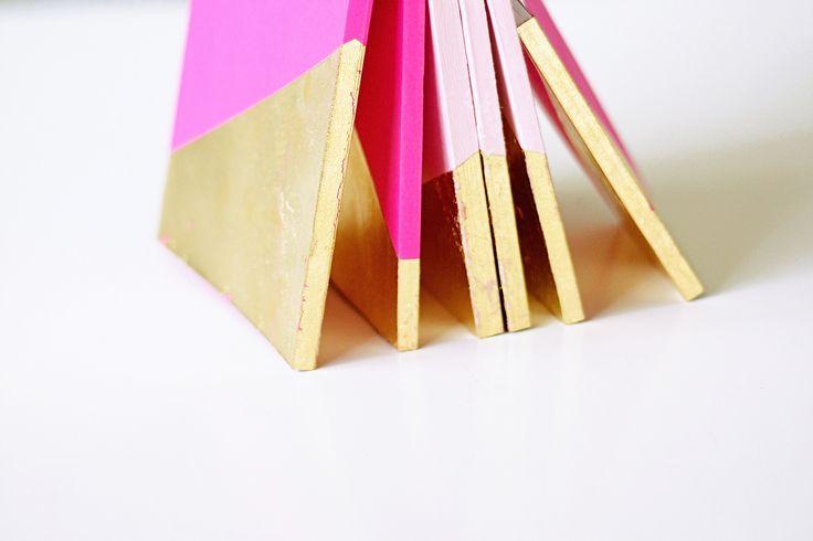 gold leaf notebooks #diy