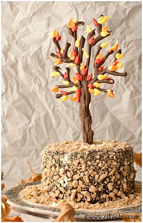 Fall themed chocolate tree cake - FoodBlogs.com