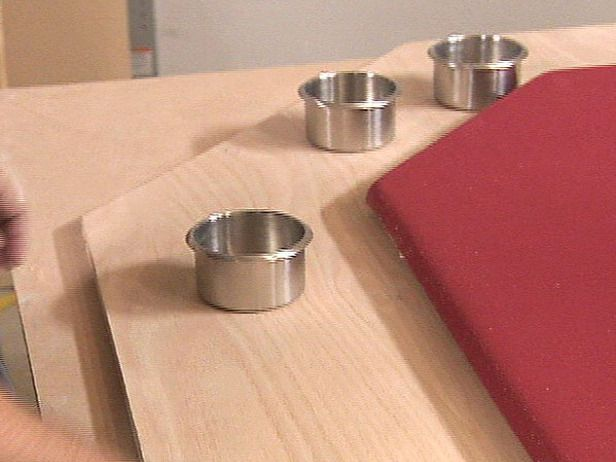 make holes for recessed cups from traced shapes