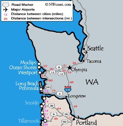 httpnwcoastcommapsimageswashington_coast_map_detailedgif oregon coastwashington statefamily vacationspacific