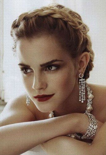 Penteados com tranças - Emma Watson