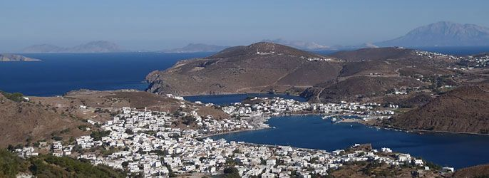 Patmos, på grekiska Πάτμος, är en liten ö i Egeiska havet och utgör en av de Dodekaneiska öarna. Dess storlek är 28 km² och har 2600 invånare. På grund...