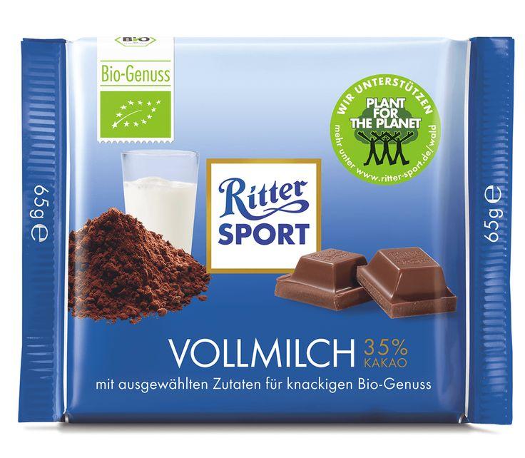 RITTER SPORT Bio Vollmilch Schokolade