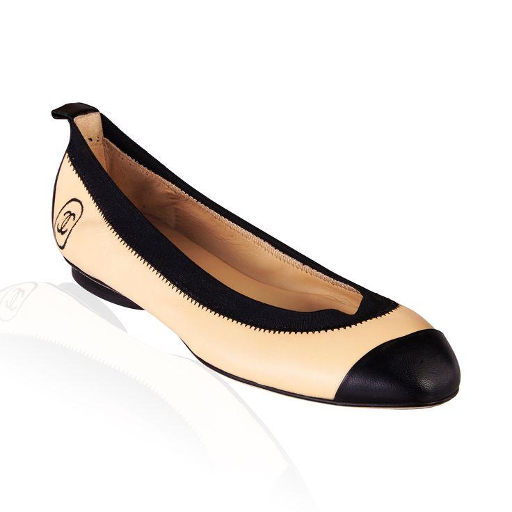 Chanel- Ballerina Flat Beige/Nior
