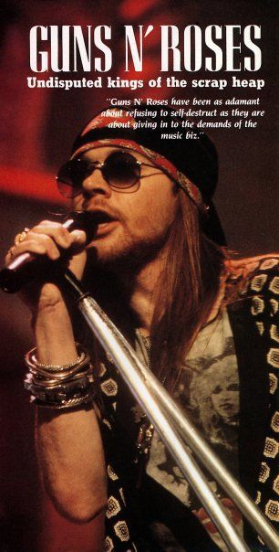 Axl Rose, leading singer of american rock band Guns N' Roses, late '80s
