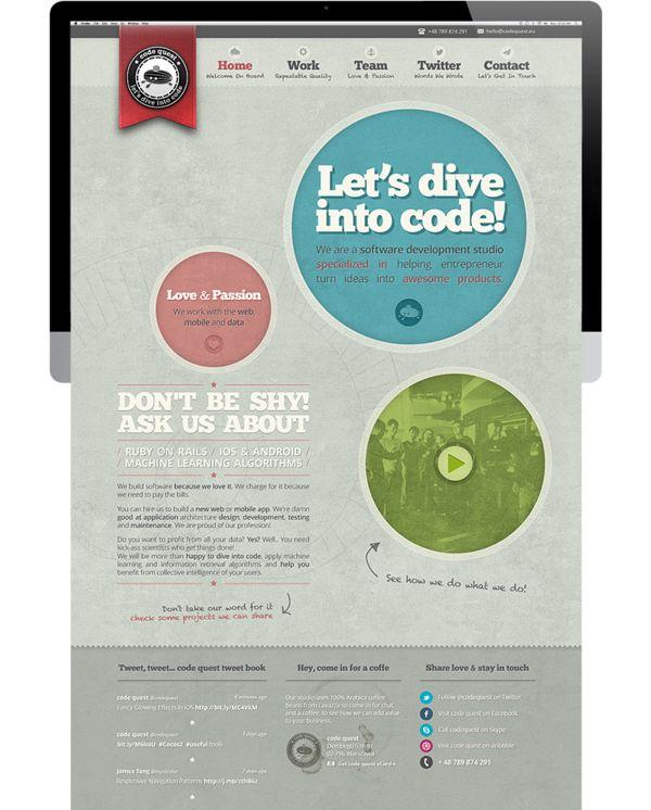 code quest website redesign by code quest , via Behance
