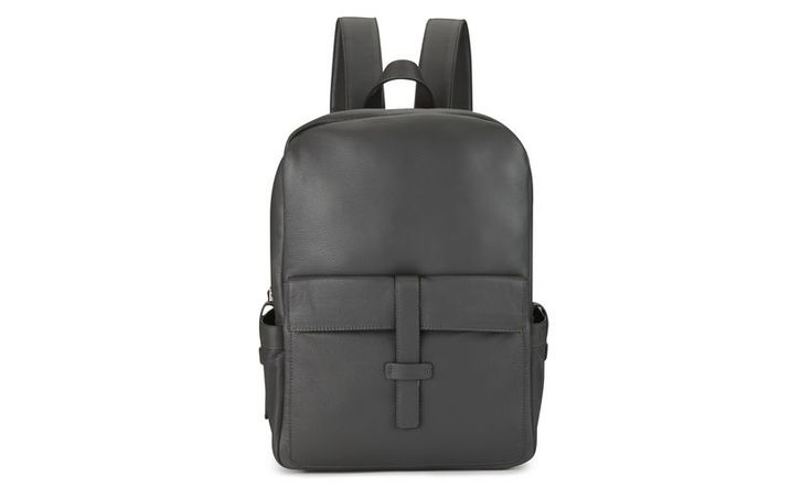 Leather Backpack, Grey | WHISTLES