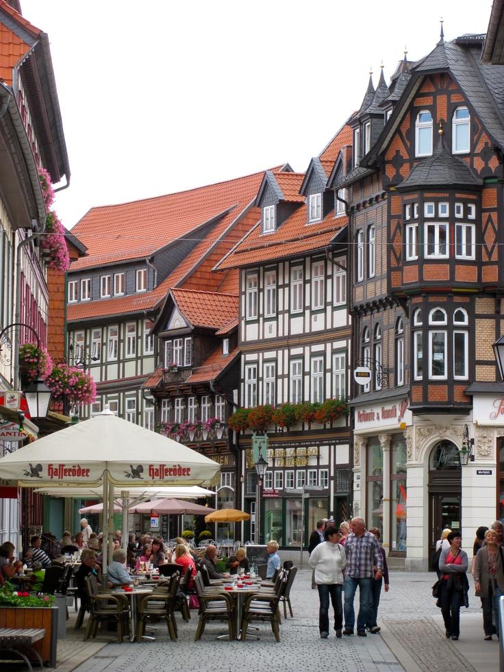 Wernigerode typische Altstadt im Harz
