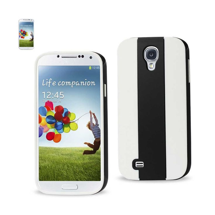Reiko Samsung Galaxy S4 Striped Case Black White | MaxStrata