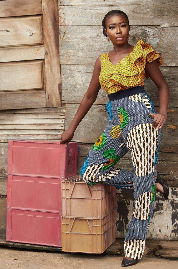 cec1b24c5b202d SHUBBY Jumpsuit (Ankara/Wax Print/ Kitenge/ African Print) in 2019 ...