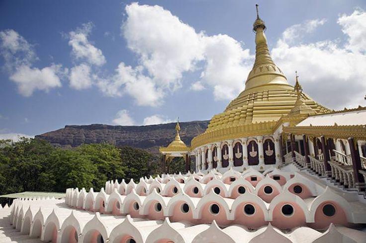 The Dhamma Giri, a vipassana meditation retreat in India.