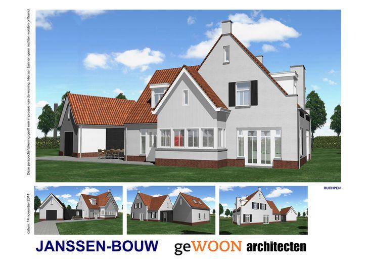 Mooie villa te bouwen in Rucphen #landelijk #houtskeletbouw