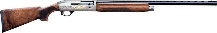 "Benelli Montefeltro Silver 12Ga Shotgun 28"" AA-Grade Walnut Stock 4 Round"