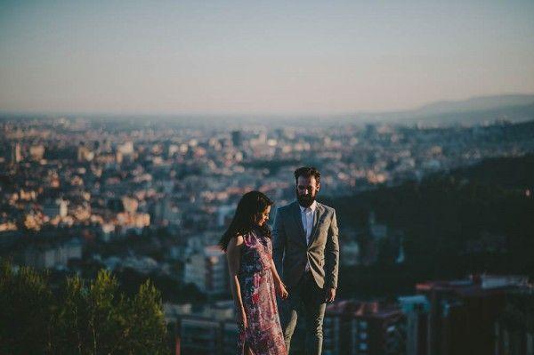Edgy Spanish Engagement Shoot in Barcelona