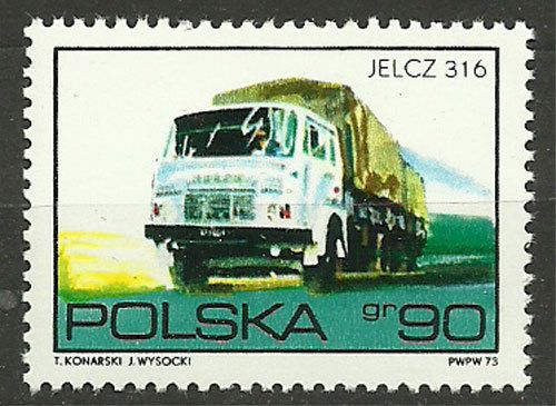 Poland, 1973, Mi 2291, Jelcz 316, #346, MNH | eBay