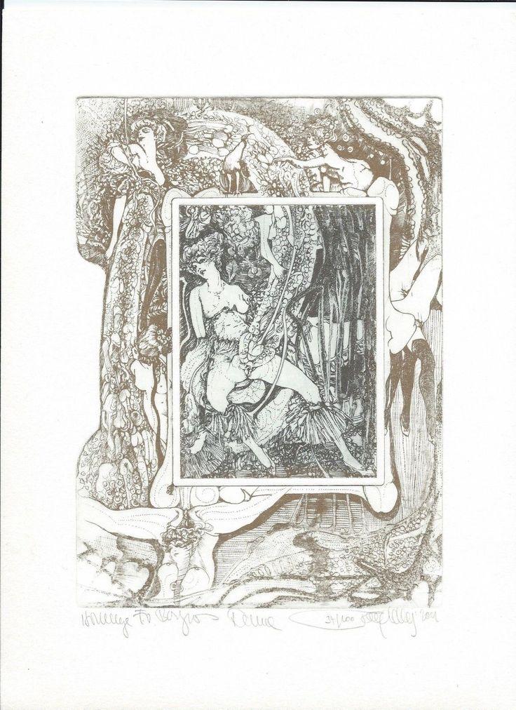Hlavaty Pavel Große Erotische Orig Radierungen Zu Ehren Von Bayros | eBay