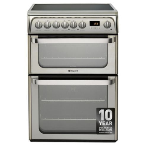 Buy Hotpoint HUE61XS, Ultima, Freestanding, Electric Cooker, 60cm, Inox, Twin Cavity, Double Oven from our Free Standing Cookers range - Tesco.com