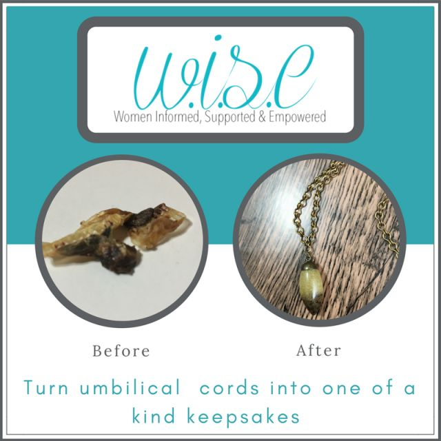 Do you have your baby's umbilical cord stump? Turn it into beautiful keepsake jewelry. Learn more at www.wisebeginnings.com