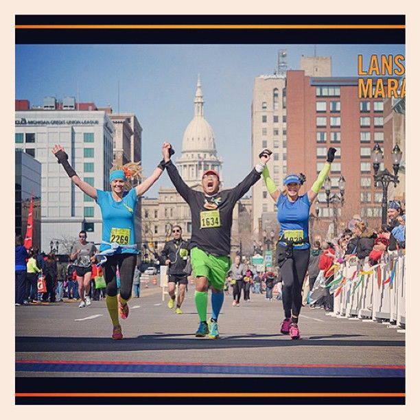 @Deborah Arbury's photo: Lansing finish line love! #newtonrunning #runningbesties