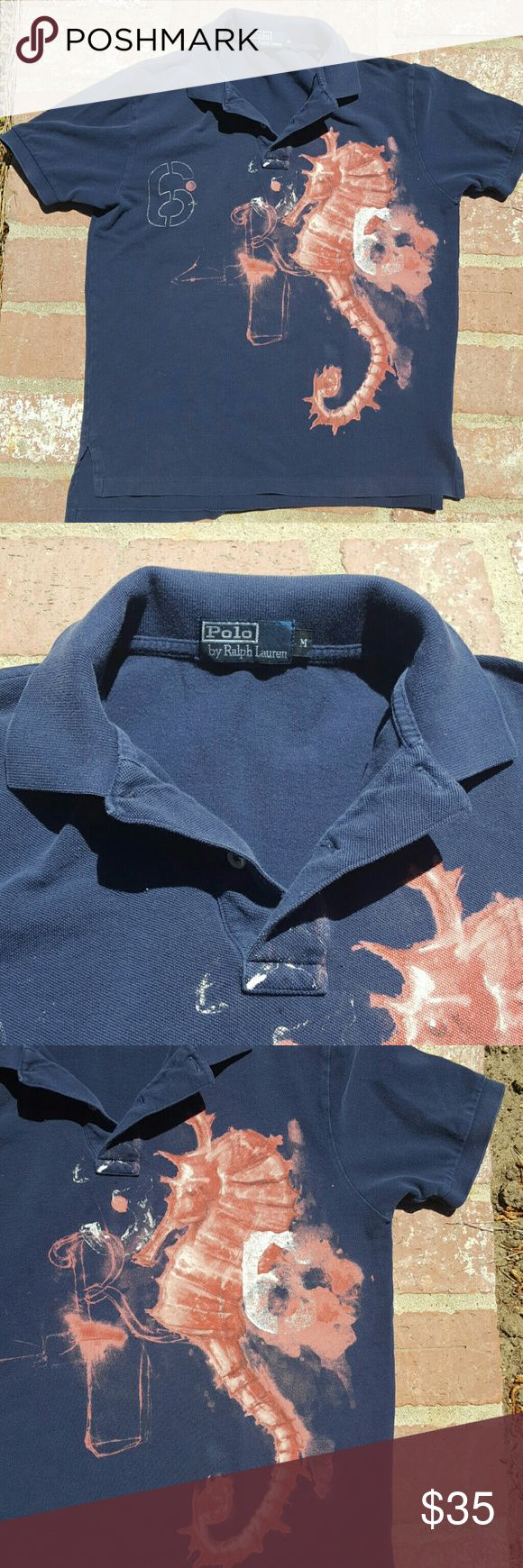 Ralph Lauren Polo Shirt Ralp Lauren Polo Shirt with Sea Horse ... really cool style I love this one for summer with a really cool jean shorts and flip flops . A great look for an Island trip ... Ralph Lauren Shirts Tees - Short Sleeve