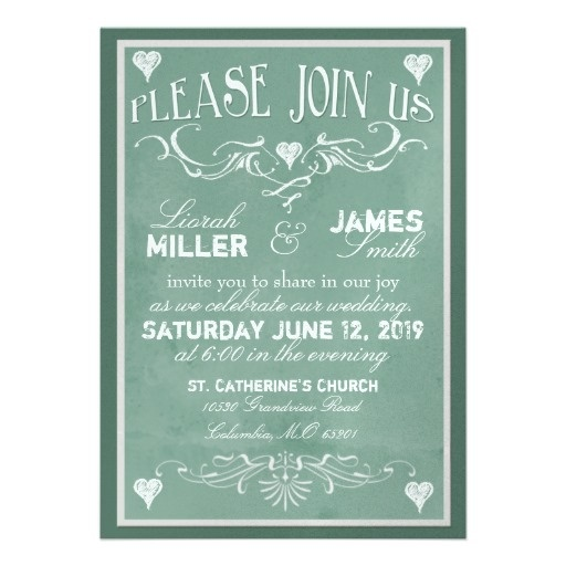 Wedding Invitations Old Fashioned: 49 Best Chalkboard Style Typography Wedding Invitations