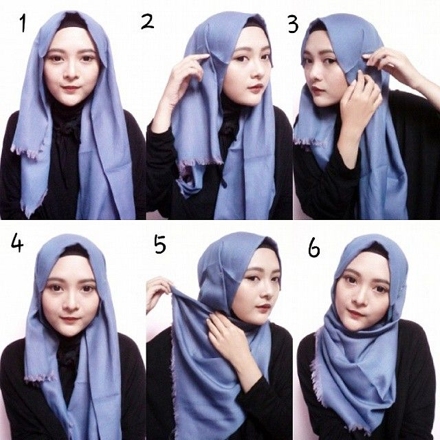 This is a simple hijab style anyone can create in less than a minute, it requires a maxi hijab, few pins and an underscarf if you prefer to use them. With no further, here are the steps for this look:…