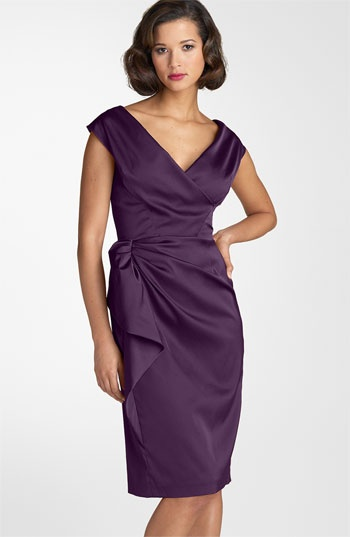 Maggy London Stretch Satin Sheath Dress available at #Nordstromweddings  This would be the perfect dress for my mother!!!
