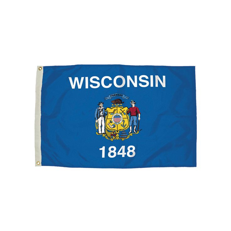 3X5 NYLON WISCONSIN FLAG HEADING &
