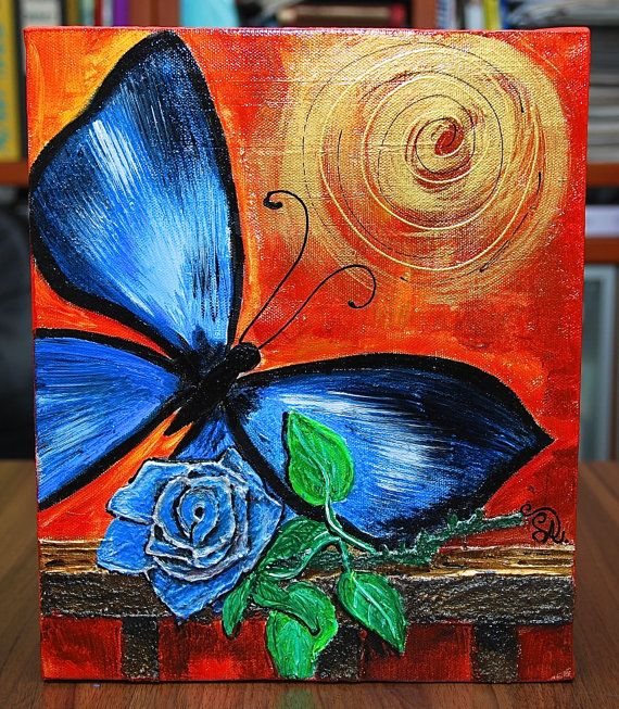 acryl painting canvas by lubicaart on Etsy, £25.00