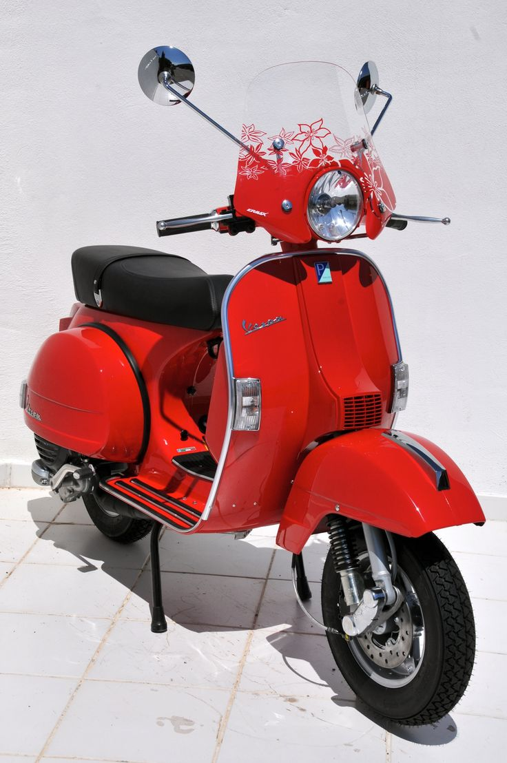 """""""Mini Sportivo"""" windshield 40cm for 125 PX with red printing"""
