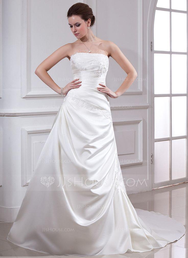 70 best wedding dresses images on pinterest short for Wedding dresses no train