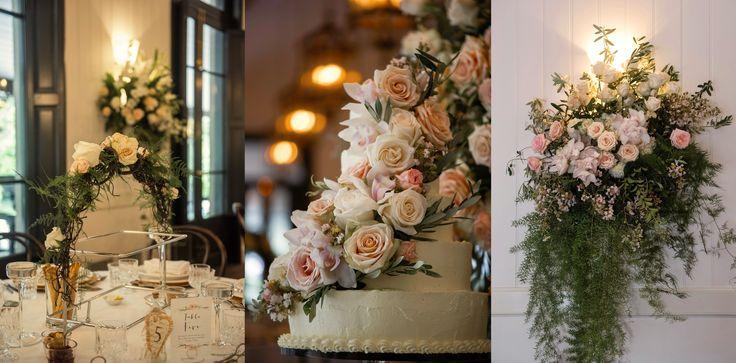 Sumptous floral details in the Orangery.