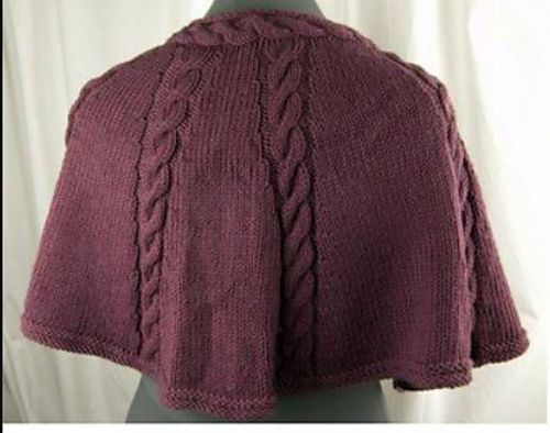 Knitting Patterns Galore - Longwood Capelet