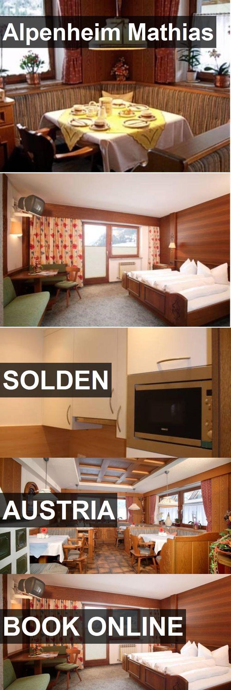 Hotel Alpenheim Mathias in Solden, Austria. For more information, photos, reviews and best prices please follow the link. #Austria #Solden #AlpenheimMathias #hotel #travel #vacation