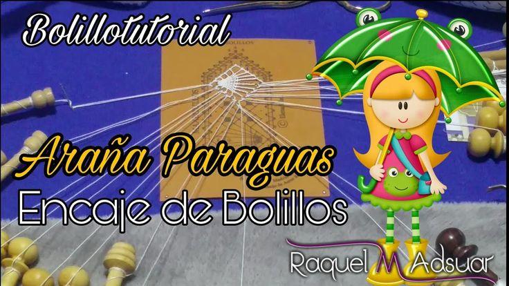 Araña Paraguas o Nazarena de Encaje. 2 Modelos. Bolillotutorial Raquel M...